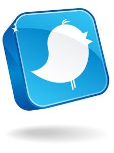3D Twitter Button