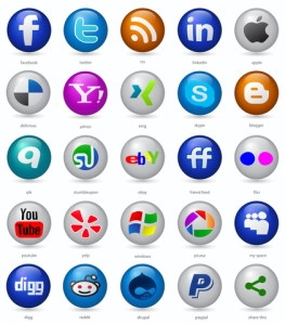 Circular Social Media Buttons